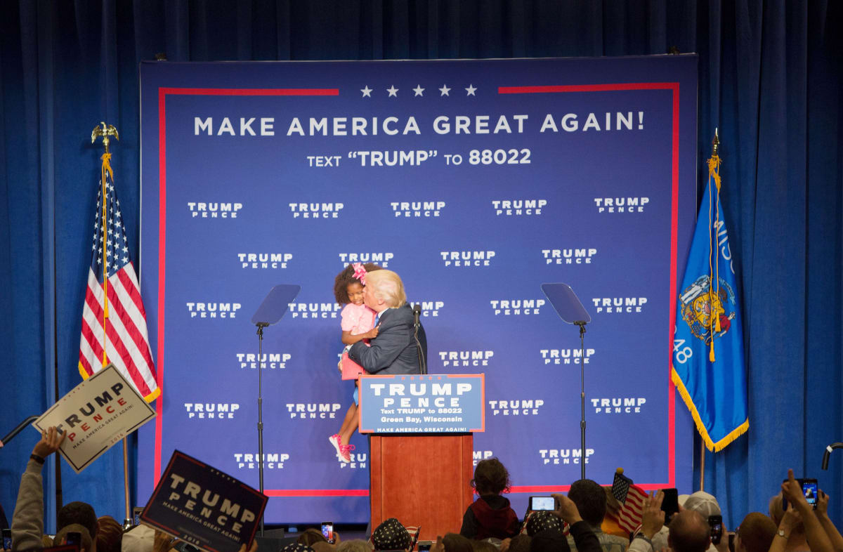 Donald Trump Tried To Kiss A Little Girl At A Rally And She Wanted No Part Of It  Complex-3063