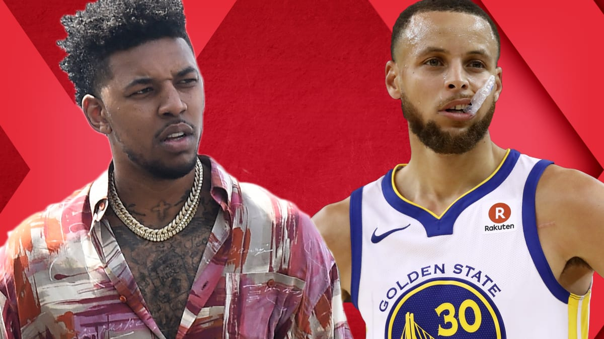 Steph Curry Finally Cooks Rockets  Gilbert Arenas on Nick Young Wearing  Hibachi Shoes  7f963319d