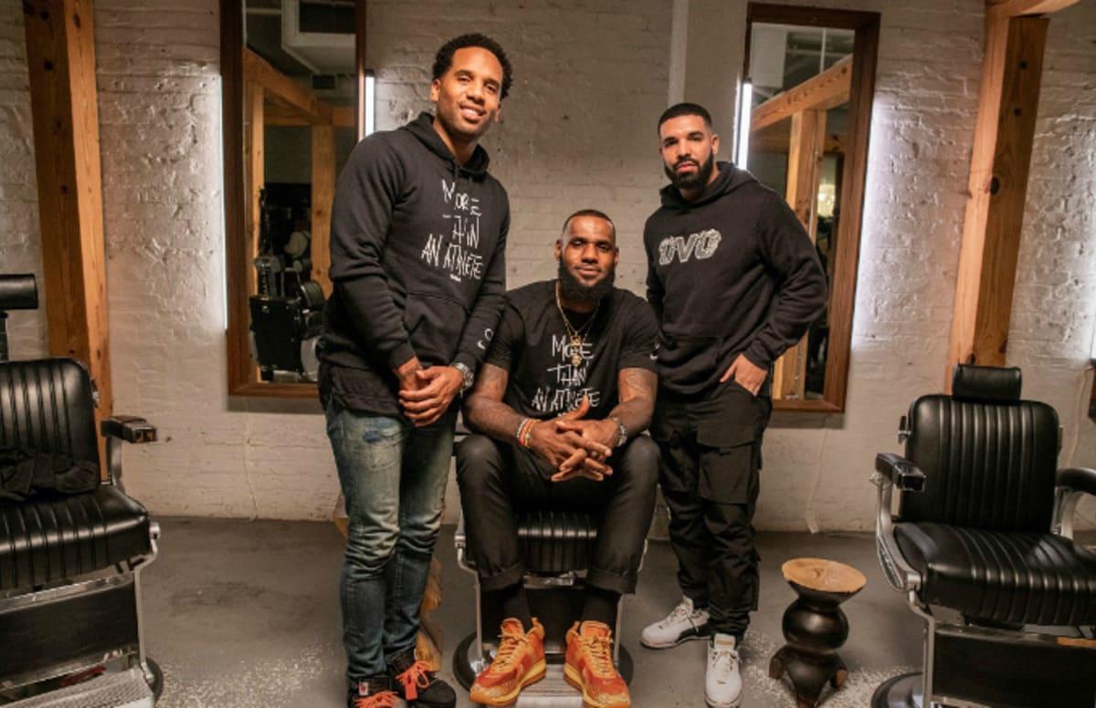 8854584d19b7 Drake Appears on LeBron James and Maverick Carter s  The Shop