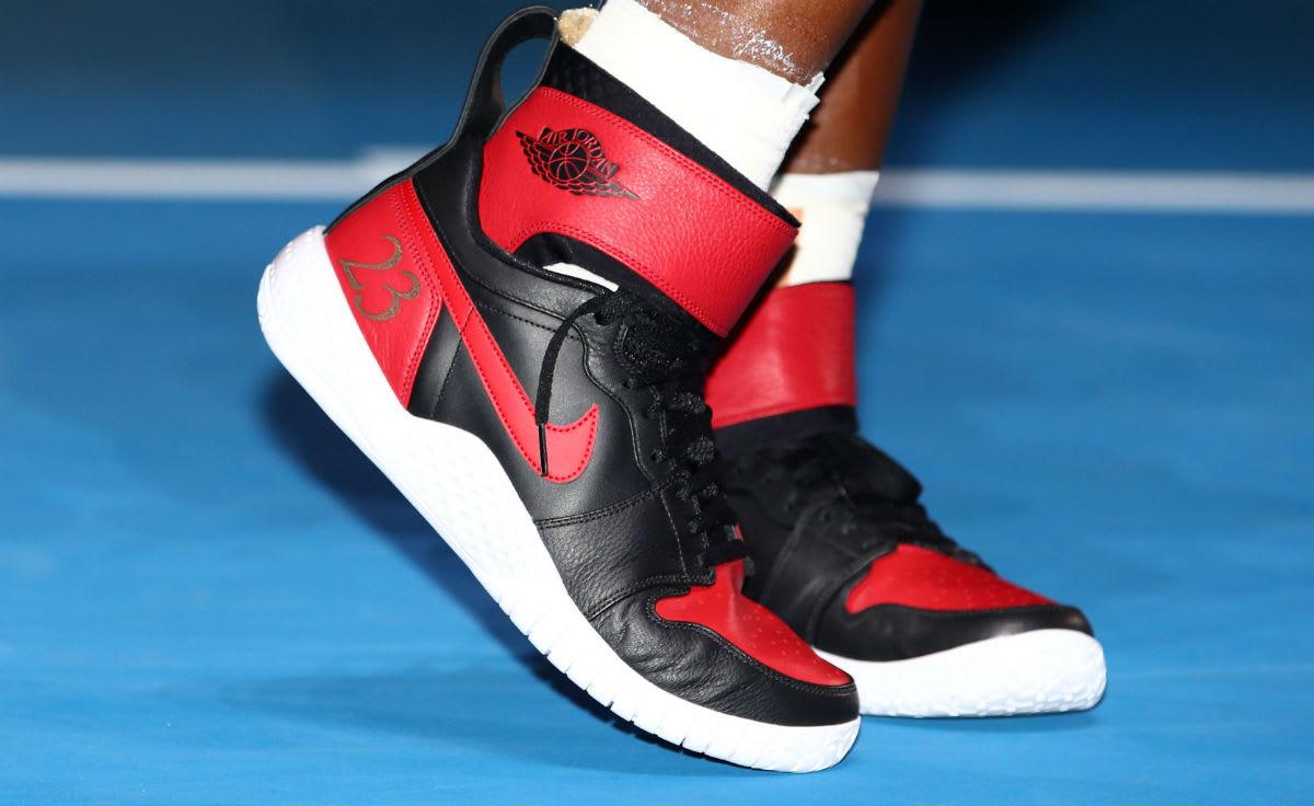 Michael Jordan Wearing Custom Shoes