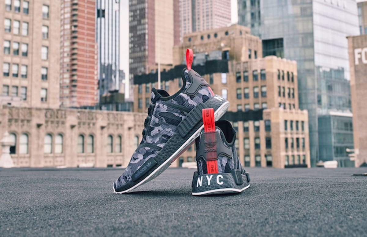96666a515d2 The adidas Print Series NMD NYC drops in select Foot Locker and ...