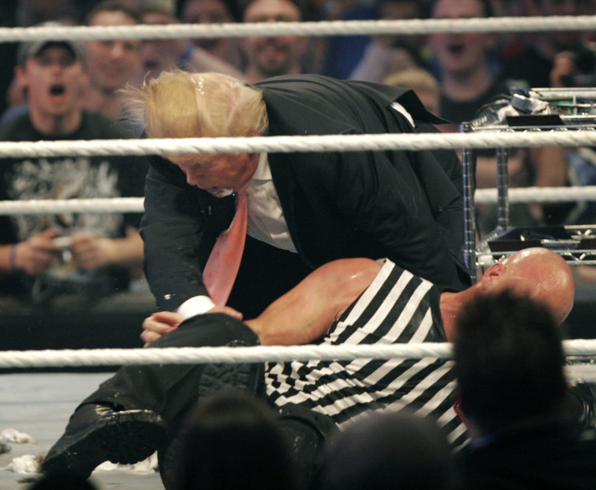 This Is How Vince McMahon Convinced Donald Trump To Take A Stone Cold Stunner