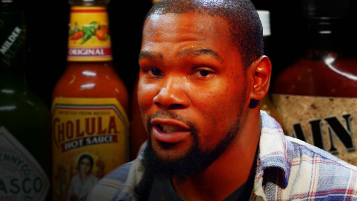 81ce27cc7c03 Watch Kevin Durant Take on the Hot Ones Challenge