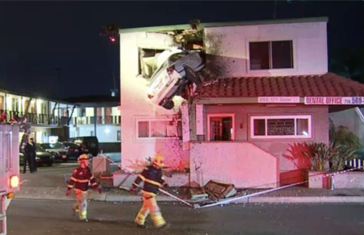 Santa Ana Auto Center >> Driver on Drugs Launches Flaming Car Into Second Floor of Building | Complex