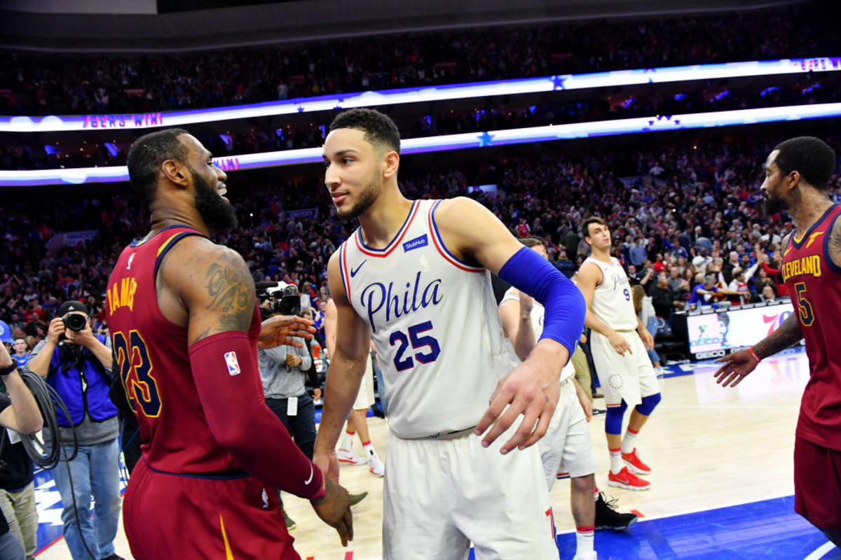 ade8e46b39c LeBron James and Ben Simmons Share Instagram Props After Dueling Triple- Doubles