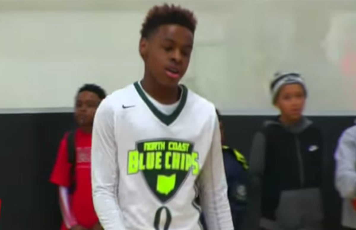 watch lebron james jr show off his skills in new