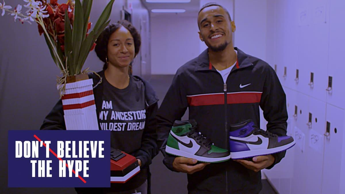 545b52c287742e New Jordan 1 Pine Green vs Court Purple