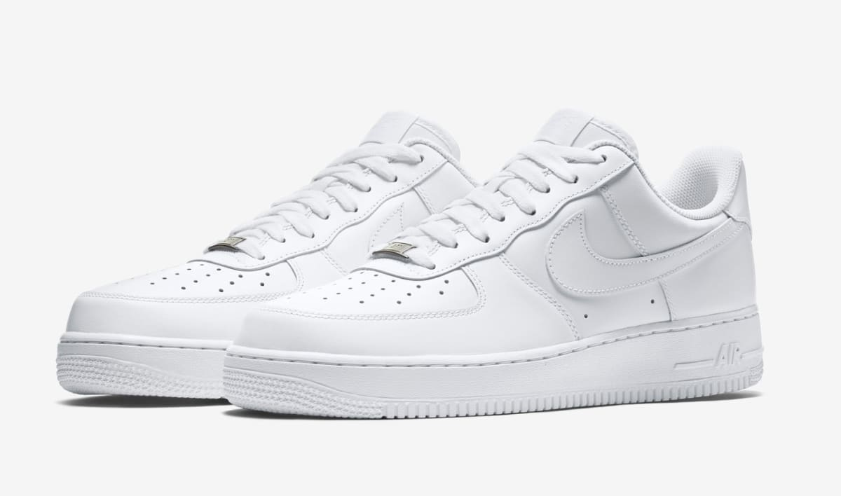 the history of the white on white air force 1 nike 39 s. Black Bedroom Furniture Sets. Home Design Ideas