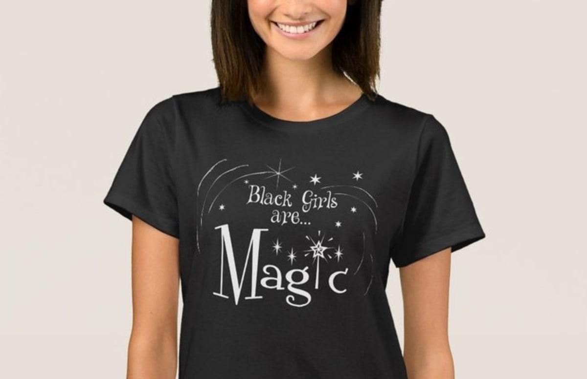 Online Store Promotes Black Girl Magic Shirts Using -7469