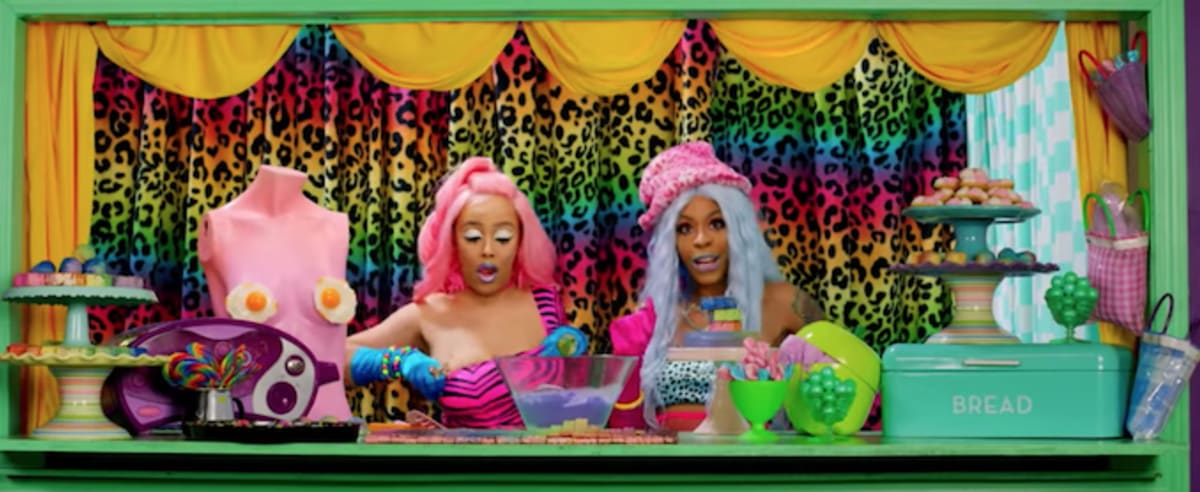 "Doja Cat and Rico Nasty Participate in a Candy-Colored Game Show in ""Tia Tamera"" Video"