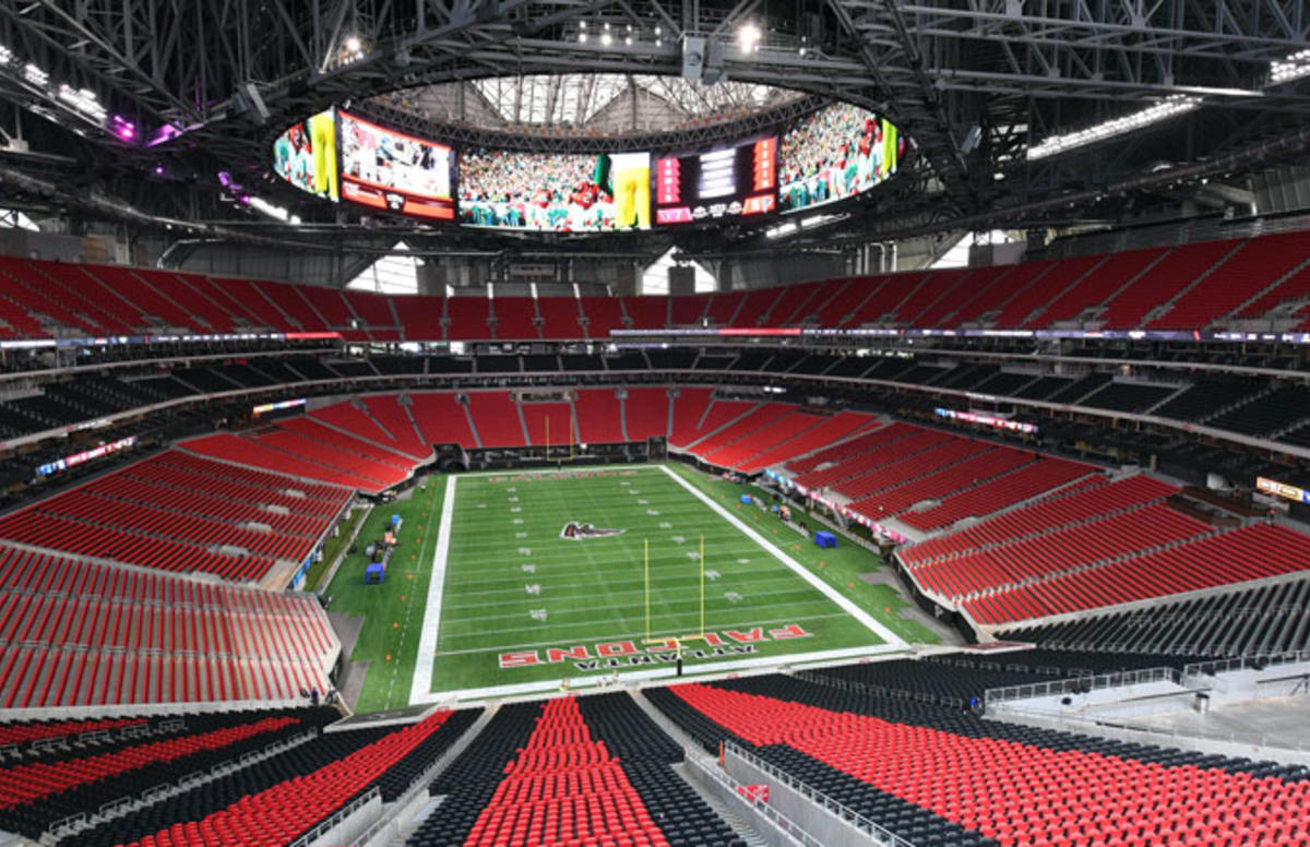 New falcons stadium has a chick fil a that won 39 t be open for Mercedes benz stadium atlanta