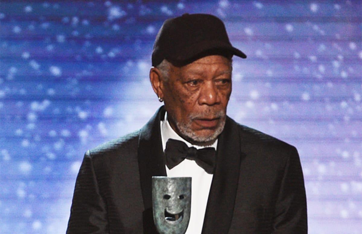 Morgan Freeman Calls Out Distracting Audience Member During Hilarious SAG Speech