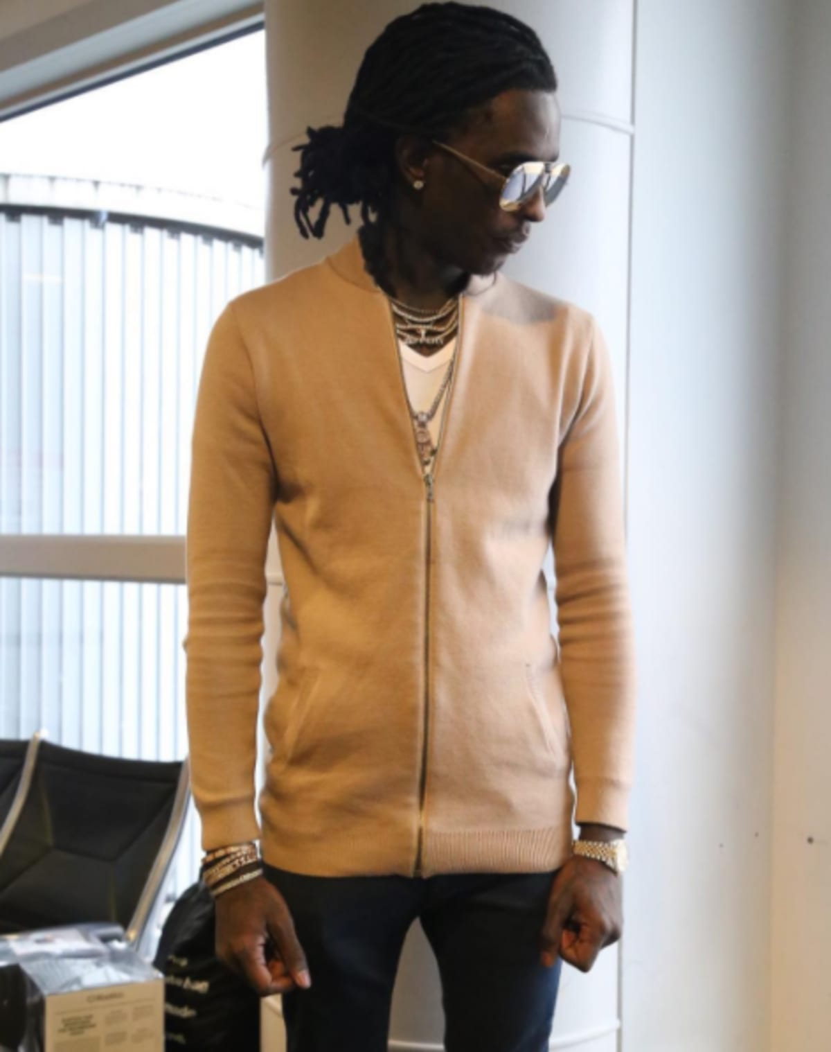 Young Thug's Mom Made Him Return To Airport And Apologize