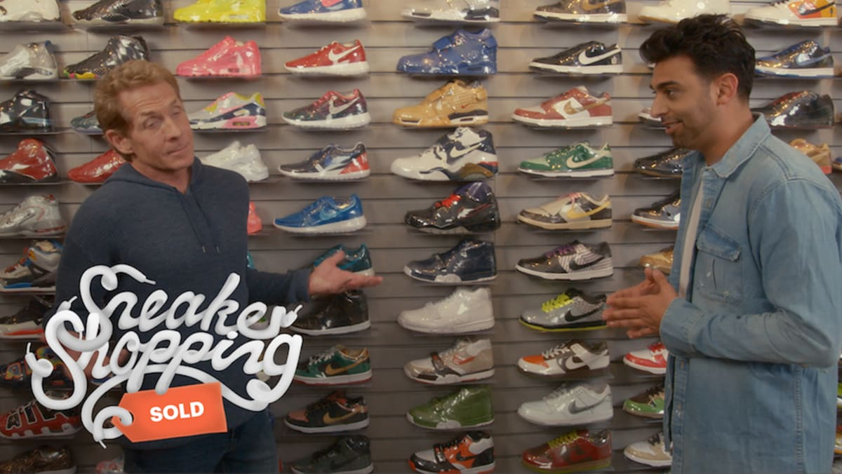 skip bayless sneaker shopping complex