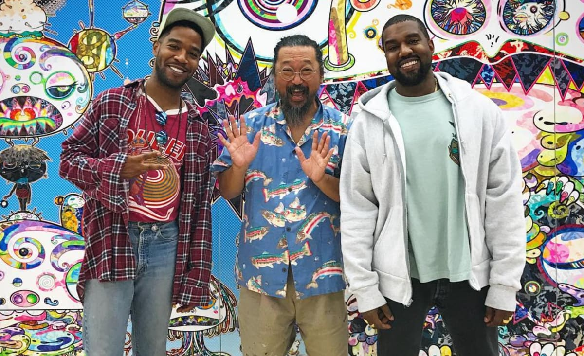 What Are Kanye West and Kid Cudi Working on at Takashi ...
