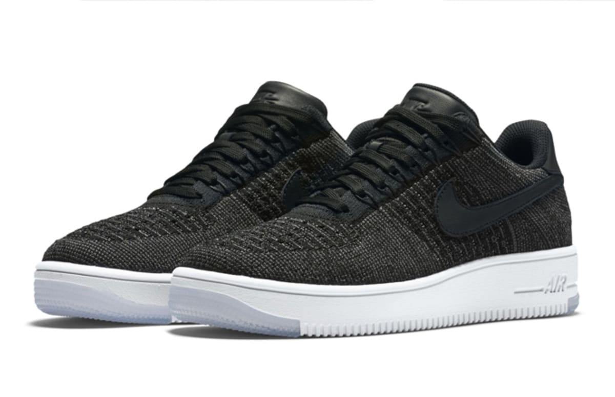 nike air force 1 ultra flyknit low black complex. Black Bedroom Furniture Sets. Home Design Ideas