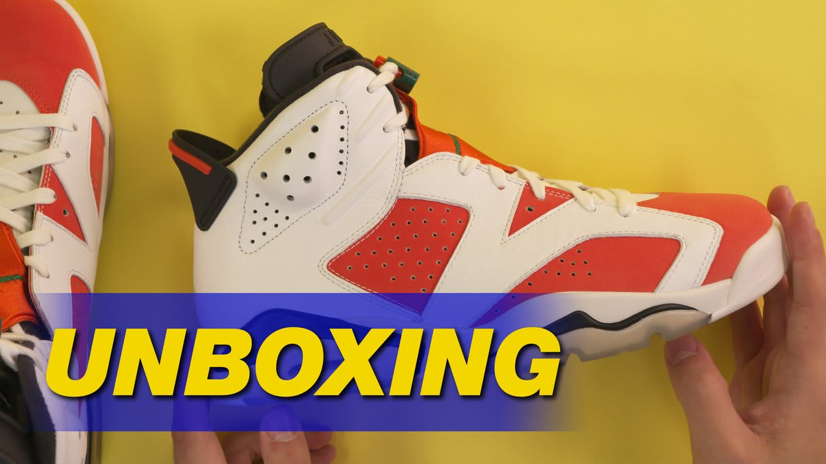 b390c44c9102 Air Jordan 6 Gatorade Like Mike Unboxing