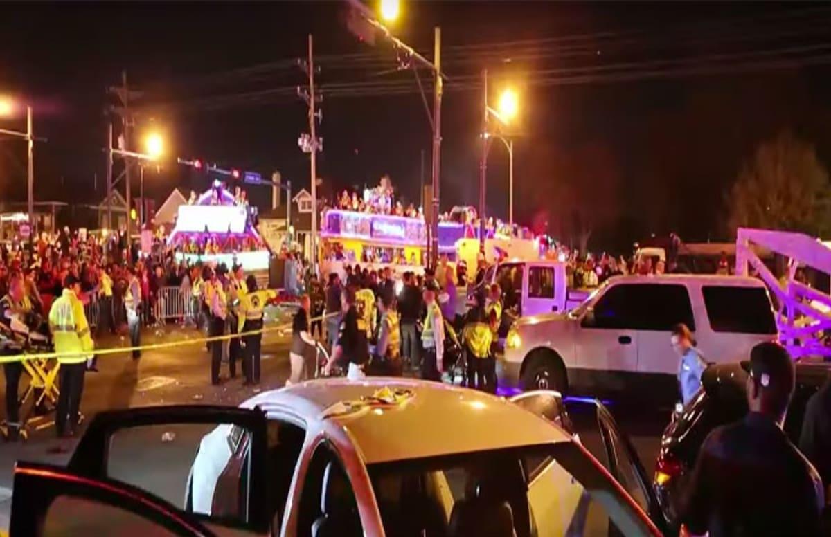 Car Crash In Nola Parade