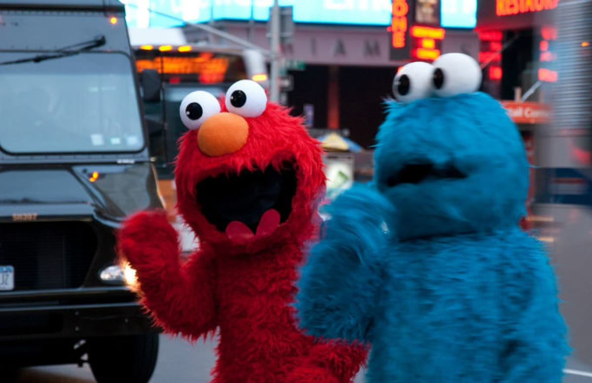 times square cookie monster stabbed while trying to stop