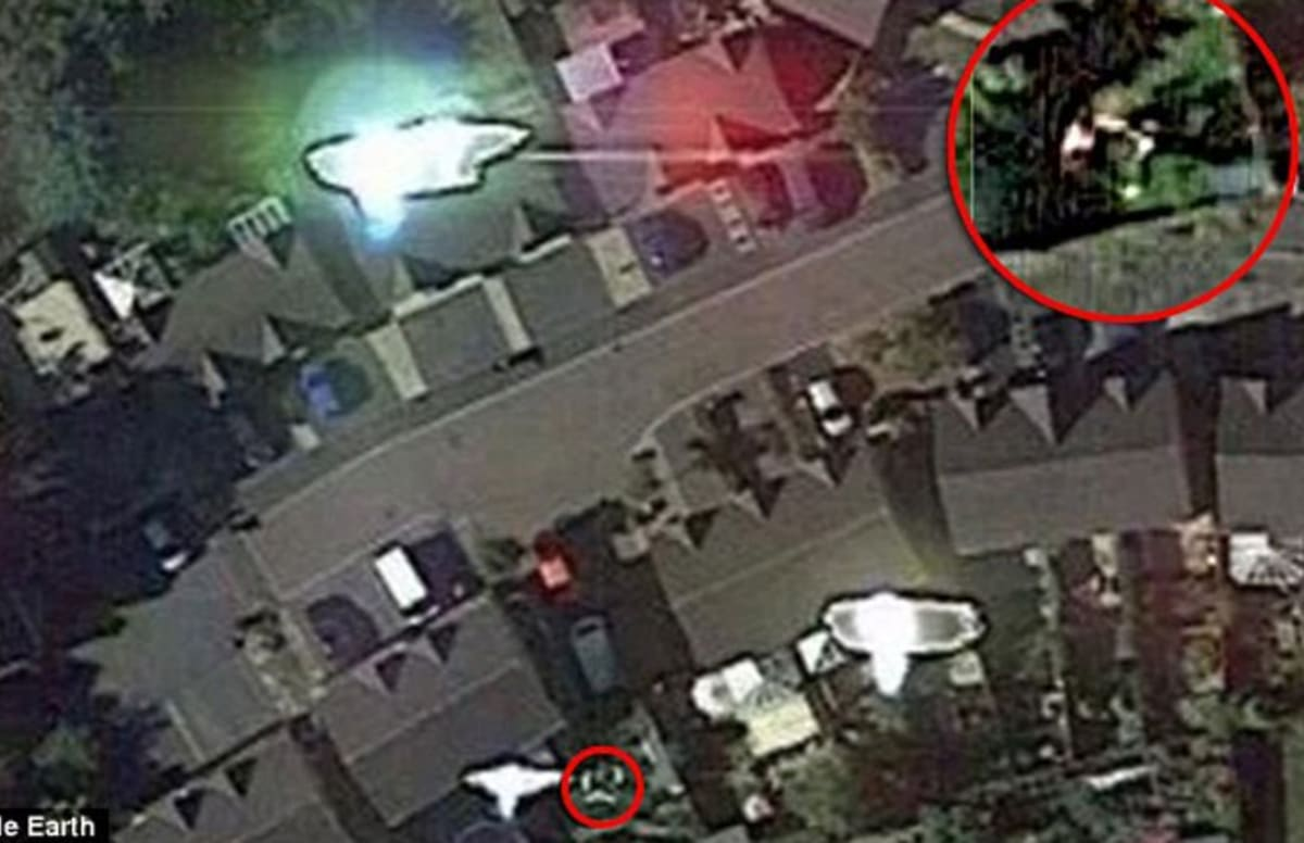 UFO Hunter Says Google Maps Captured Him Trying to Punch An Alien in the Face