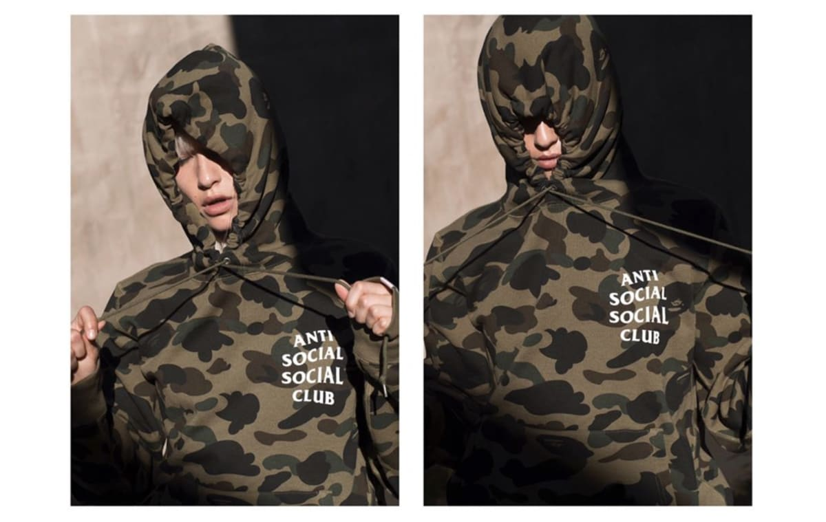 19227eb9b949 A Bathing Ape Unveils Capsule Collection With Anti Social Social Club