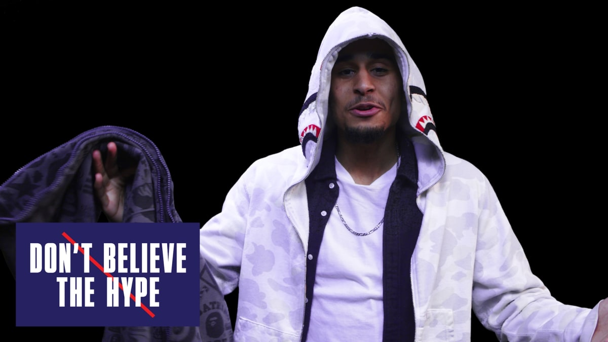 don 39 t believe the hype featuring joey badass bape hoodies. Black Bedroom Furniture Sets. Home Design Ideas