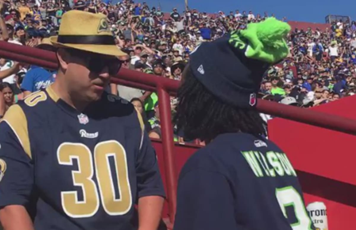 No Chill  Watch These Fans Fight in the Stands During the Seahawks-Rams Game 725c07f9e