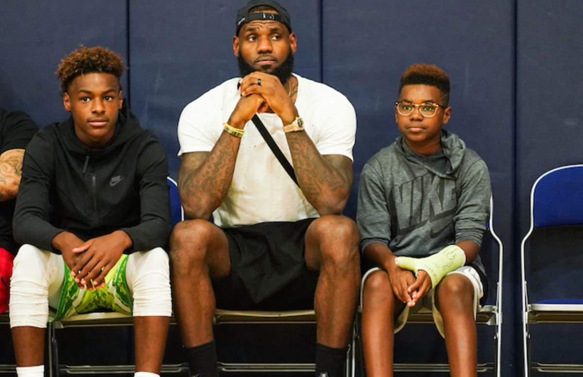 d054ade2c8bf Watch Proud Dad LeBron James Talk About His Sons Rocking His Number ...