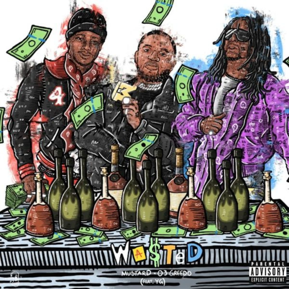 """03 Greedo and Mustard Link With YG on """"Wasted"""""""