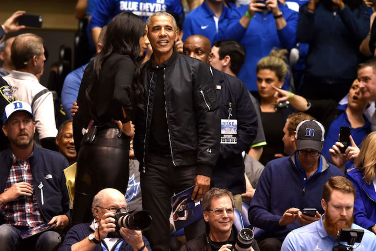 You Can Get a Jacket Just Like That '44' Bomber Obama Wore to the Duke-UNC Game