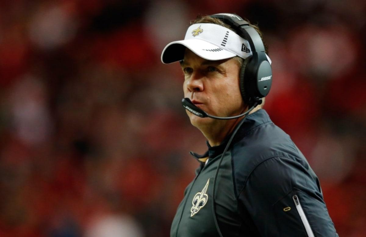 Did Saints Coach Sean Payton Really Make Choke Sign at Falcons
