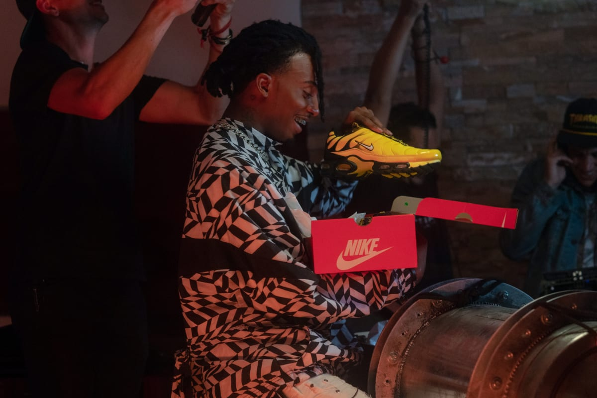 Playboi Carti Unearths Foot Locker and Nike s New Air Frequency Pack  Sneaker  97911c69b