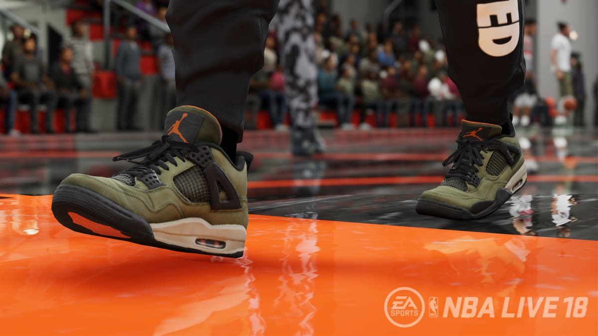 The $30,000 Undefeated x Air Jordan IV Is Going to Be in 'NBA Live 18'
