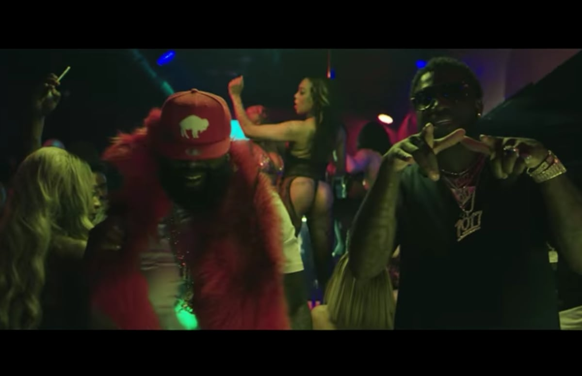 9c7c0014258 Rick Ross and Gucci Mane Hit Up the Strip Club in the New Video for