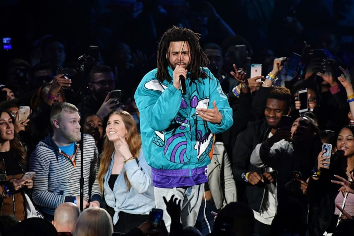 Watch J. Cole Rep Charlotte During the NBA All-Star Game Halftime Show