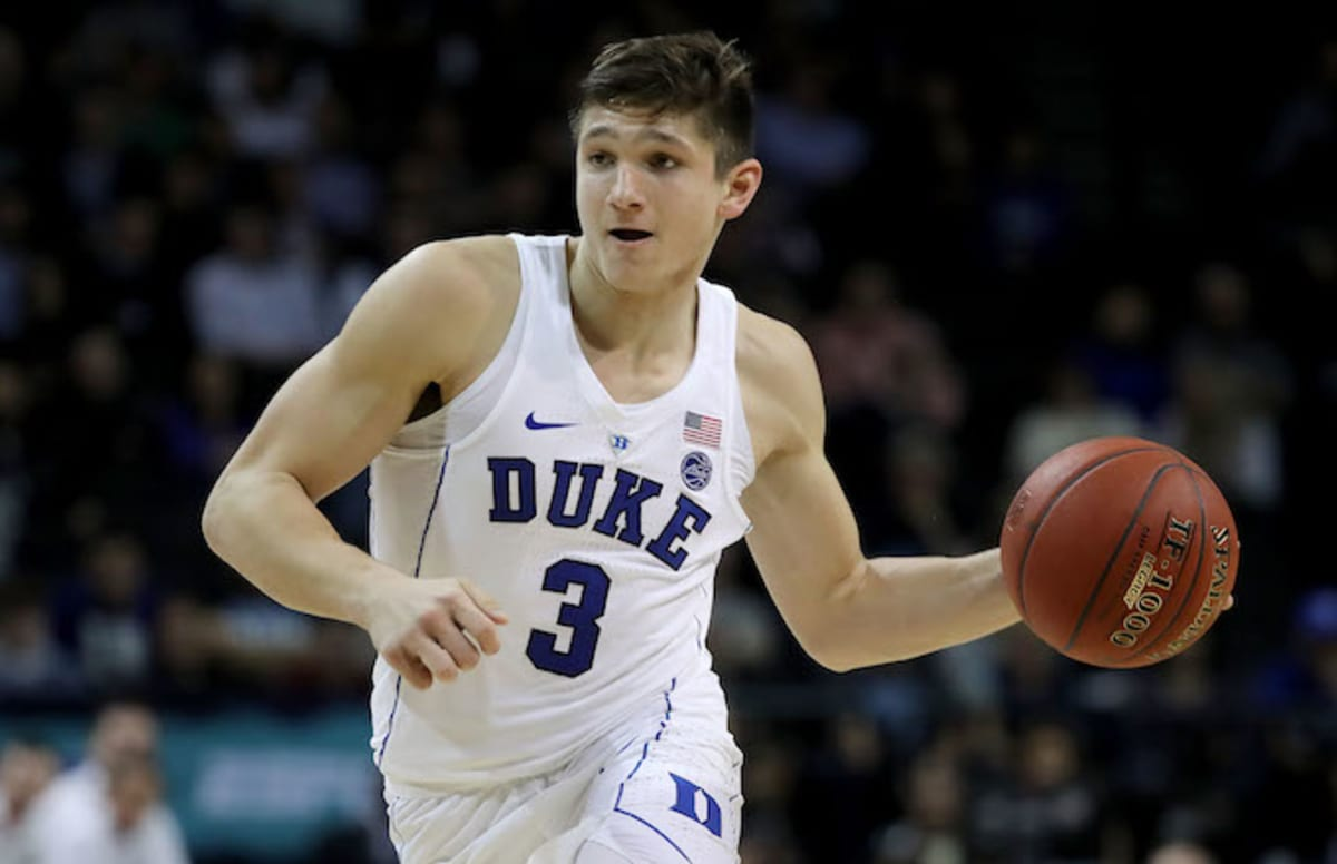 duke's grayson allen gets creativeusing his butt to foul north