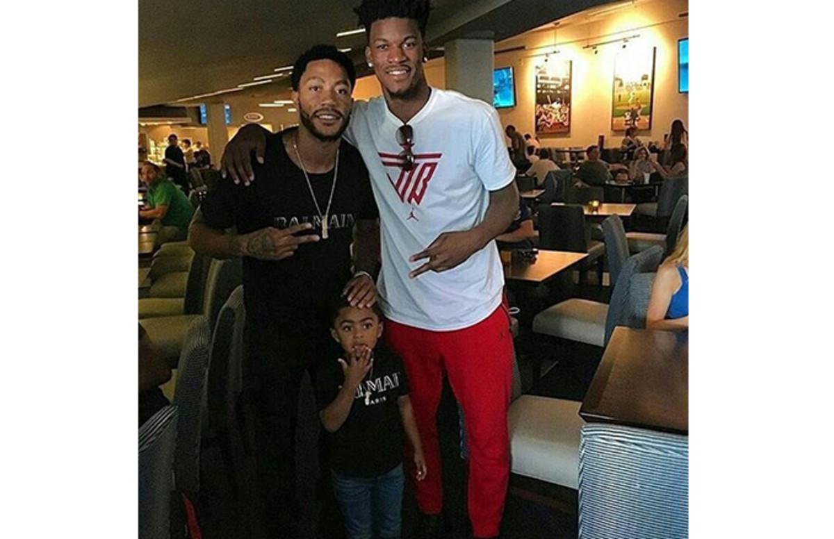 Jimmy Butler and Derrick Rose Reunite on Instagram | Complex