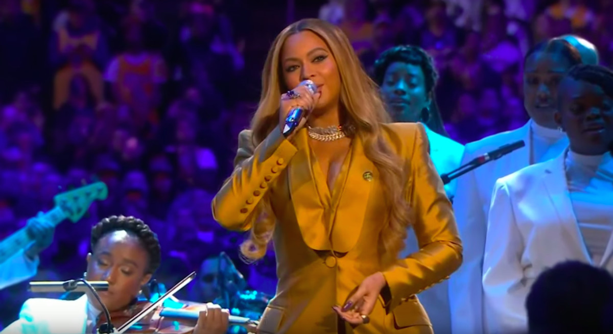Watch Beyoncé's Kobe and Gianna Bryant Tribute Performance at Memorial Service