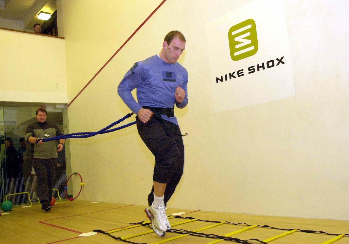 Classic Men's Nike Shox R4 Retro Cushioning Running Shoes Grey Copper Red