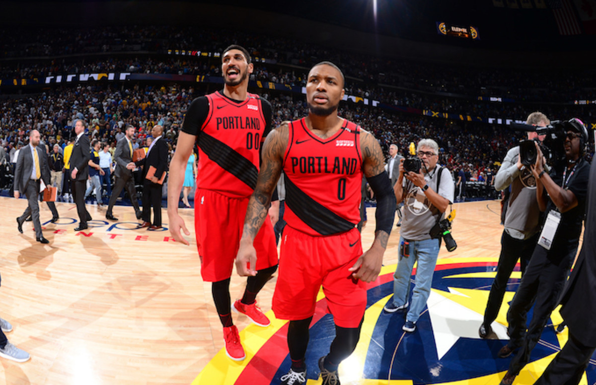 super popular c5c78 9055f Damian Lillard Says Trail Blazers Gave Enes Kanter 45 Minutes to Re-Sign,  Not 6