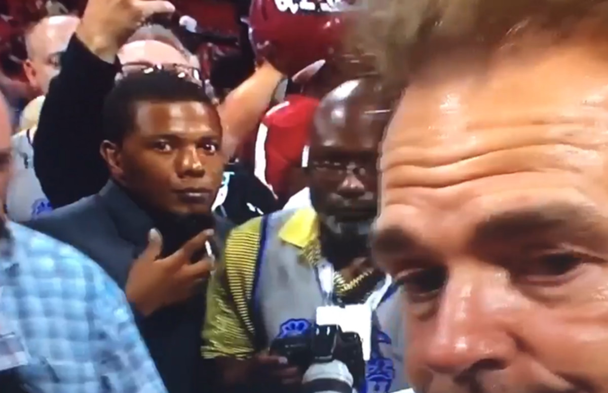 The Story Behind Why That Guy at the Alabama Game Looked So Shady on Live TV