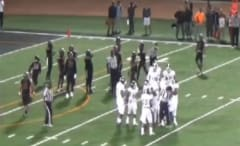 A lineman for Mt. SAC punches a referee during a game.