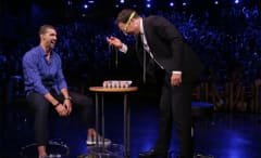 "Michael Phelps plays Egg Russian Roulette on ""The Tonight Show."""