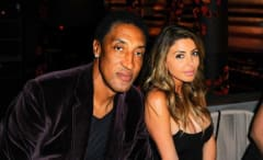 Scottie Pippen with his wife Larsa.