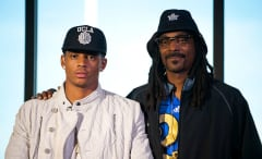 Cordell Broadus appears with his dad after committing to the UCLA football team.