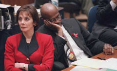 Prosecutors Marcia Clark and Christopher Darden