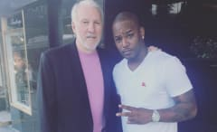 Cam'ron and Gregg Popovich