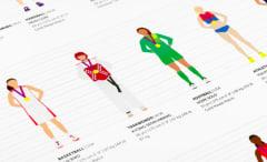Wendy Fox Female Olympian Illustrations