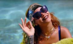 Rihanna in her BBHM video.