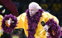 Ric Flair during an NBA Finals game in 2015.